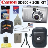 Canon PowerShot SD800 IS 7.1MP Digital Elph Camera + 2GB Deluxe Accessory Kit