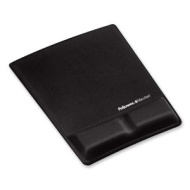 """Fellowes Mouse Pad / Wrist Support with Microban Protection - 0.9"""" x 8.3"""" x 9.9"""" - Black 9181201"""