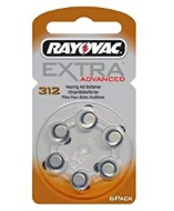 Rayovac Type 312 Hearing Aid Batteries (6 Pack)
