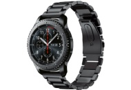 SAMSUNG  Gear S3 Steel Edition Frontier Smartwatch Metall, Silikon, 22 mm, Korpus: Silber