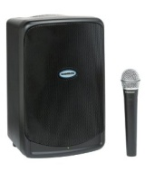 """Samson XP40iW Portable PA System with Wireless Handheld Microphone and iPod Dock, 40 Watts"""