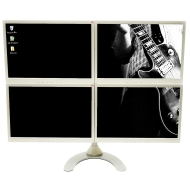 Quad FreeStanding LCD Monitor Stand Holds up to 24 inch widescreen monitors