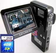 SVP HDDV-3000 12MP Max. 6-in-1 Multi-Functional Camcorder with Rare Huge Flip LCD! (16GB SDHC Card & Tripod Included)