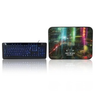 Sumvision - Indigo LED Keyboard and Mousepad Bundle