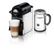 Nespresso Pixie Espresso Maker With Aeroccino Plus Milk Frother, Electric Titan