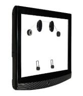 """auvisio Ultraflache Wandhalterung f. LCD-TV 26-60"""" (66-152cm) bis 40kg"""
