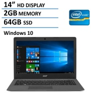 2016 Newest Acer Aspire One Cloudbook 14-inch Laptop, Intel Dual-Core Processor, 2GB RAM, 64GB SSD, Office 365 Personal 1-year subscription, 1TB OneDr