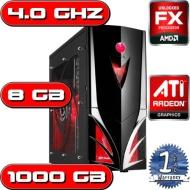 AMD BULLDOZER QUAD CORE 3.60Ghz ATI HD 5450 1TB 8GB DDR3 RAM GAMING COMPUTER PC