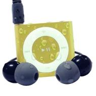 Waterfi 100% Waterproof iPod Shuffle Swim Kit with Dual Layer Waterproof/Shockproof Protection (Yellow)