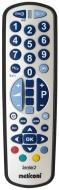 Meliconi Smart 2 Combo - Mando a distancia universal para 2 aparatos, color negro y plateado