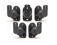 TechSol Essential TSS1-B - 4 Pack of Black Universal Speaker Wall Mount Brackets