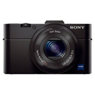 "Sony Cyber-shot DSC-RX100 II Camera, HD 1080p, 20.2MP, 3.6x Optical Zoom, WiFi, NFC, 3"" LCD Flip Screen, Black"