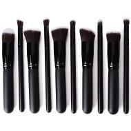 10PCS Pro trucco Brushs set di pennelli cosmetici Make up spazzole di miscela Concealer ombretto per sopracciglia Fondazione ombra polvere Cosmetica T