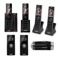 Vtech 2 Handset Answering System, Dect 6.0, A/V Doorbell, Black