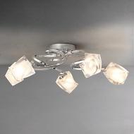 John Lewis Nembus Semi-flush Ceiling Light, Chrome, 5 Arm