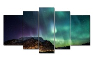 5 Panel Wall Art Star Field In Space And A Nebulae Painting The Picture Print On Canvas Abstract Pictures For Home Decor Decoration Gift piece (Stretc