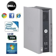 DELL USFF DUAL CORE 4GB WIFI WIN7 DVDRW ULTRA SMALL ECO QUIET (P4-0)