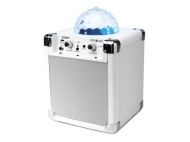 ION House Party Portable Sound System with Built-In Light Show (white)