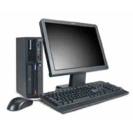 WiFi Enabled IBM Desktop Computer, 17-inch LCD Screen, Keyboard, Mouse, Intel Pentium 4 2.6GHz, 1GB RAM Memory, DVD, Windows XP Professional