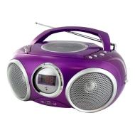 LECTEUR RADIO CD MP3 USB VIOLET