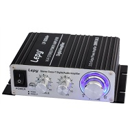 LP-2024A+ Hi-Fi Mini Stereo Amplifier Car Amplifier with Power Supply(A-Black)
