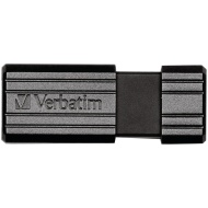 Verbatim Chiavetta USB Pin Stripe, 128 GB, Nero