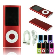 Voberry 8GB 1.8 inch 4th Gen MP3 MP4 Player Media/music/audio Player with Fm Radio(Red)