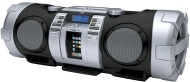 JVC RV-S1BB Boomblaster Twin Powered Super Woofer Speaker System with Wireless DLNA/AirPlay/USB/SD Card Compatibility and iPhone/iPod Dock - White