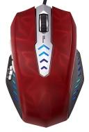 Perixx MX-Gaming - Ratón láser gaming, 8 botones programables, Omron Micro Switches, Polling 125-1000HZ, color 3D rojo