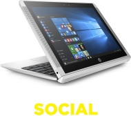 "HP x2 10-p050na 10.1"" Touchscreen 2 in 1 - Silver"