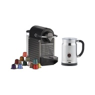 Nespresso Pixie and Aeroccino Plus Milk Frother Set, Titanium