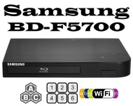 SAMSUNG Wi-Fi BD-F5700 Multi Region Zone Free Blu Ray DVD Player - PAL/NTSC 0 1 2 3 4 5 6 7 8 - BD A/B/C - Worldwide Voltage 100~240V 50/60Hz, (CONNEC