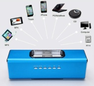 GadgetinBox™ Rechargeable Music Angel Docking Speakers For Apple iPhone's / iPod's (Blue)