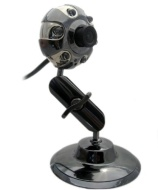 Kinobo B3 USB Webcam 6.0 Megapixels with Metal Stand for Xp/Vista/Windows 7/Skype + Mic & LED lights