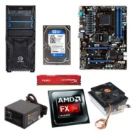 AMD FX-8310 3.4GHz Eight-Core CPU/MSI 970A-G46 ATX MB/4GB DDR3 1866 Kingston HyperX Fury Red Memory/1TB WD Blue 7200rpm SATA HDD/CPU Cooler/TT Versa H