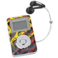 Cyber Gear 2GB MP3 Player Black/Red/Yellow
