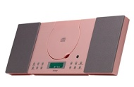 Denver MC-5010 Pink Wall Mountable Micro Music Center CD FM Radio Aux In Clock/Alarm