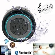 Expower(R)IPX7 impermeabile altoparlante stereo antiurto fili di Bluetooth speaker per esterno accise e doccia (nero + rosso)