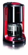 Severin KA 4151 Kaffeeautomat, bis 10 Tassen, schwarz / rot / metallic