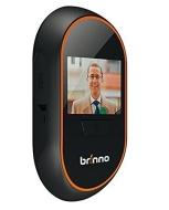 """Brinno Motion Activated PeepHole Camera Spioncino Digitale per Porte con Foto/Videocamera e Monitor Interno da 3.0"""", Nero/Arancio"""