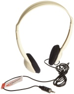 Ergoguys Lightweight Stereo Heahphones Wired Beige Color - Wired Connectivity - Stereo - Over-the-head