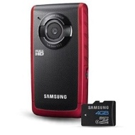 Samsung W190 5.5MP HD Pocket Camcorder Red