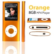 """SAVFY® 8GB MP3 MP4 Player with FM Radio, Games, Voice Recorder & Movie Player, 1.8"""" High Resolution TFT True Colour Backlit Screen, built in rechargea"""