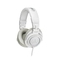 Audio Technica ATHM50 Pro Dj Headphones - White Coiled Cable
