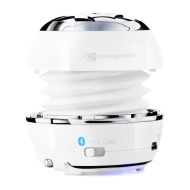 Decrescent Boom BTS-D125 Bluetooth Wireless Mini Capsule Speaker with 3.5mm Cable and Bass Xpansion System (White)