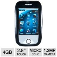 "MachSpeed Trio MP3 Player - 2.8"" Touchscreen, Micro SDHC Card Slot, 1.3MP Camera, Camcorder, USB 2.0, 4GB Memory, Black  - ECLIPSE-T2810C 4GB ECLIPSE"