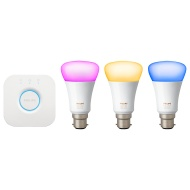 Philips Hue Colour Ambiance Wireless B22 LED Starter Kit