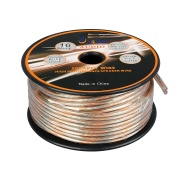 Aurum Cables 16 Gauge Transparent PVC Speaker Wire w/ ft markings every 5 ft - 150 feet