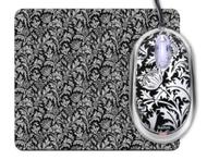 Saitek PM46tp Expression Notebook Mouse and Mouse Pad - Thistle Print (Black)