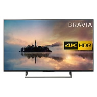 """Sony Bravia 43XE7003 LED HDR 4K Ultra HD Smart TV, 43"""" with Freeview HD & Cable Management, Black"""